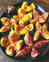 honey baked figs. just made these for dinner (desert dinner) and I topped each one off with a raspberry. try more honey and less butter. glorious!!