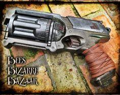 Steampunk Nerf Gun Pistol Maverick Cosplay by BeesBizarreBazaar