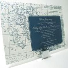 Map of Mexico save the date  cute idea for destination wedding