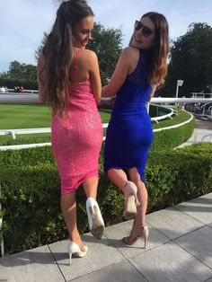 Clean Heels - perfect for the races, as modelled by these gorgeous race goers at Goodwood! Heel Stoppers, Outdoor Events, Race Day, First World, Prom, Cleaning, Heels, Model, Dresses