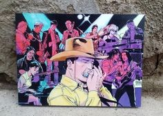 Tex Willer, Bonelli characters,  Italian comic, Art Print, Wall Decor, Comic decor, Handcrafted from recycled chipboard