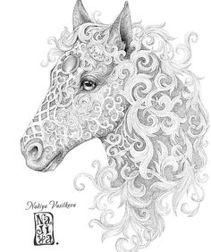 Horse coloring page Selah Works Adult ColouringAnimals