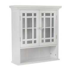 Elegant Home Fashions, Albion 22 in. MDF White Wall Cabinet, HD17473 at The Home Depot - Mobile