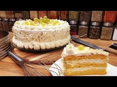 Citromtorta egyszerűen és finoman @Szoky konyhája - YouTube Vanilla Cake, Food And Drink, Cookies, Recipes, Youtube, Crack Crackers, Biscuits, Recipies, Cookie Recipes