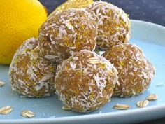 Lemon-Kissed Blondie Bites. Whole foods treat, no sugar, no soy, no oil.  What they do have?... flavor!