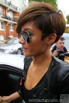 49. #Shaved Sides - 50 Adorable #Short Haircuts ... → Hair #Adorable