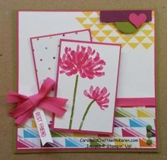 Karen Thomas: Cards and Crafts with Karen  – PCCCS115 – Bright & Cheerful - 10/26/14 (SU: Too Kind (flowers), Dotty Angles)