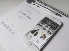 Botiques App - Early concept draft designed by Virgil Pana. Connect with them on Dribbble; Wireframe Design, Interface Design, Ui Inspiration, Graphic Design Inspiration, Ecommerce App, App Ui, Ui Ux, Fashion Design World, Mobile Shop