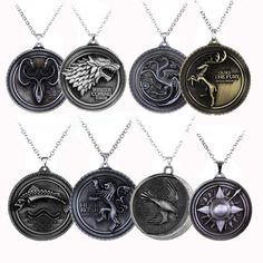 Game Of Thrones Families Pendant Necklace //Price: $9.99 & FREE Shipping //     #WinterIsComing