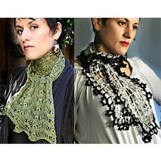 Crochet, Broomstick Lace Pattern - Crochet Lace Scarves $7 or comes as a kit also - very dandy