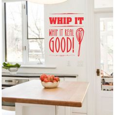 "VINYL WALL STICKER ""Whip It"" Vinyl Wall Stickers, Camden, Kitchen, Shop, Home Decor, Cooking, Decoration Home, Room Decor, Kitchens"