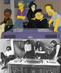 Funny pictures about Best Real Life Moment Translated In The Simpsons. Oh, and cool pics about Best Real Life Moment Translated In The Simpsons. Also, Best Real Life Moment Translated In The Simpsons photos. Good Charlotte, Yoko Ono, Beatles Funny, The Beatles, Simpsons Simpsons, Los Simsons, Simpson Tv, Futurama, Life Moments