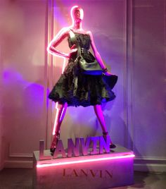 """LANVIN WOMAN,Paris France,""""In the Path of the Purple Line"""", pinned by Ton van der Veer"""