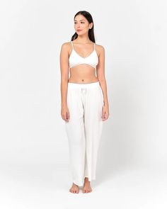 Our collection of white organic bamboo sleepwear is crafted from sustainably produced organic bamboo. Browse our selection of women sleepwer now! Sleepwear Women, Long Pants, Suits You, Bamboo, Personal Style, Organic, How To Wear, Collection, Dresses