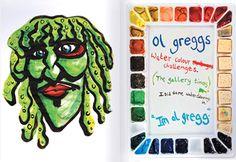 I'm Old Gregg (art by Noel Fielding)
