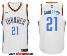 dbd439685 Men s Nike NBA Oklahoma City Thunder  21 Andre Roberson Jersey 2017-18 New  Season