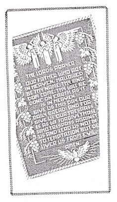 The Lords Prayer with Angels Filet Crochet Pattern   hollywoodpatterns - Craft Supplies on ArtFire