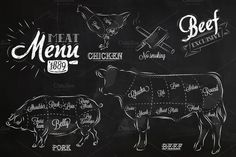 These Meat Menu Illustrations are art of our December Big Bundle! See what else we've got in store.