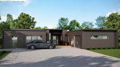 """Résultat de recherche d'images pour """"extension garage toit zinc"""""""