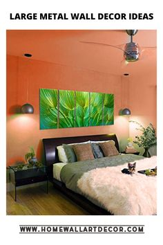 if you love the color green then you will adore this large metal wall decor accent. Perfect for your bedroom, living room or office. Green Wall Clocks, Green Wall Decor, Green Wall Art, Metal Wall Art Decor, Wall Decor Set, Home Wall Art, Wall Decorations, Decor Interior Design, Furniture Design