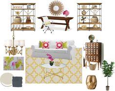Living Room/Office Progress including mood board