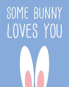 Some Bunny Loves You Rabbit Art Print Bunny by ColourscapeStudios