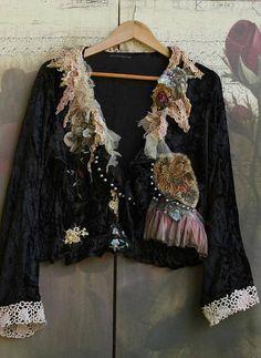Marais jacket tattered laces shabby chic whimsy bohemian
