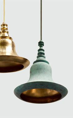 As I have been delving deeper and deeper into trends within Indian design for this column, I've been excited to explore a side of modern… Brass Lamp, Pendant Lamp, Pendant Lighting, Cool Lighting, Lighting Design, Dramatic Lighting, Indian Interiors, Design Furniture, Table Furniture