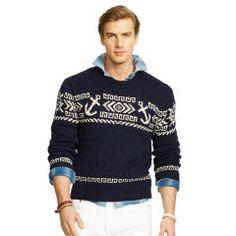 Nautical Cotton-Linen Sweater - Polo Ralph Lauren Crewneck - Ralph Lauren