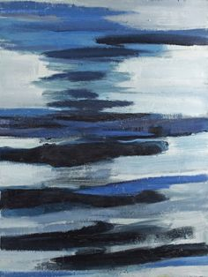 Gerrit Benner (Dutch, 1897-1981), Water en lucht (weerspiegeling) [Water and air (reflection)], 1961. Oil on canvas, 120 x 90 cm.