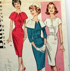 "Vintage 1960s, Sewing Pattern, Butterick 9323, Dress, Misses' Size 12, Bust 32"". $12.75, via Etsy."
