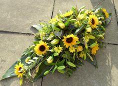 Single ended spray Funeral Flower Arrangements, Funeral Flowers, Casket Flowers, Funeral Sprays, Casket Sprays, Sympathy Flowers, Flower Centerpieces, Fall Decor, Decoration