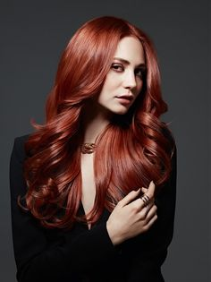 Goldwell Long Red Hairstyles