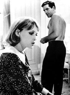 Mia Farrow and John Cassavetes in Rosemary's Baby, 1968