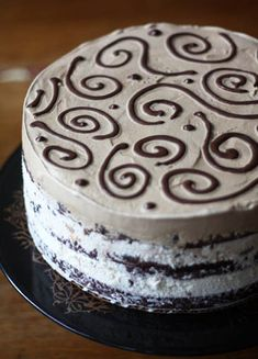 Triple Layer Brownie Ice Cream Cake. Three layers of ice cream (flavors of your choosing), homemade brownie from scratch creates the supporting layers of this cake.