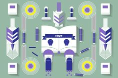 Vectors - Troy by Jackkrit Anantakul available at YouWorkForThem.