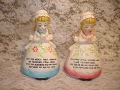 Vintage Religious Praying Girls Salt and Pepper by GreatOldThings