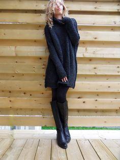 Oversized/ Slouchy/ Chunky knit sweater. Alpaca blend от LeRosse