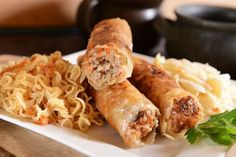 Polish Recipes, Spring Rolls, Sushi, Sausage, Appetizers, Menu, Lunch, Chicken, Cooking