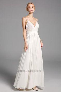 Long Sleeve Wedding Dress Boho, Backless Lace Wedding Dress, White Bridal Dresses, Wedding Dress Train, Applique Wedding Dress, Long Wedding Dresses, Gown Wedding, Bridesmaid Dresses, Prom Dresses