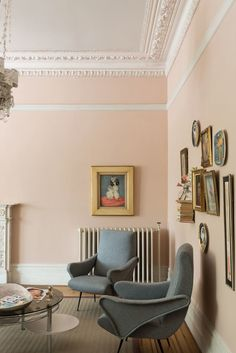 Farrow & Ball's head of creative, Charlie Cosby, shares advice on capturing the season's best palette in your home Farrow And Ball Living Room, Farrow And Ball Paint, Farrow Ball, My Living Room, Home And Living, Living Room Decor, Fall Paint Colors, Retro Living Rooms, European Home Decor