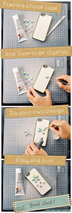Try DIY your own Swarovski Crystal Phone case! It's Easy and Fun! Or you can buy one from DSstyles. http://www.dsstyles.com/bling-iphone-cases/partly-swarovski-crystal-studded.html