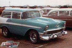 1956 Chevy Wagon, shortened to a 2-Seater 2-Door Wagon