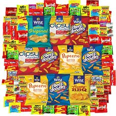 Trick or Treat Snack Gift Party Bundle Care Package Variety Pack Candy Sampler 100 Count - Food Dog Snacks, Party Snacks, Savory Snacks, Healthy Snacks, Champagne Sorbet, Pecan Nuts, Macaroons, Gift Baskets, Gourmet Recipes