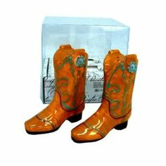 """Gems Boot Salt/Pepper Set (24 Pack) by DDI. $131.70. We proudly offer free shipping. We can only ship to the continental United States.. Please refer to the title for the exact description of the item.. 100% Satisfaction Guaranteed.. All of the products showcased throughout are 100% Original Brand Names.. High quality items at low prices to our valued customers.. Gems cowboy boot shaped ceramic salt/pepper set- hand painted, boxed, size 3-1/4"""" x 1-1/4' x 3-1/2"""" high.. Save 57% Off!"""