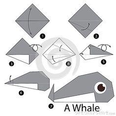 Instrucciones paso a paso cómo hacer la ballena de la papiroflexia