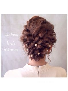 wadamiyukiさんのワンピース「ブランド不明 」を使ったコーディネート Dance Hairstyles, Wedding Hairstyles, Hair Arrange, Hair Setting, Japanese Hairstyle, Aesthetic Hair, Hair Art, Hair Designs, Flowers In Hair