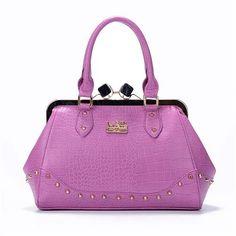 #coach #bags #handbags Coach Large Purple Satchels