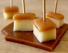 Caramel apple bites: I used store bought caramel (instead of following the recipe). It's a great little fall snack combo for events!