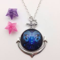 2017 Fashion Twelve Constellations Aries Picture Glass Pendant Necklace Fashion Women and Men Necklace